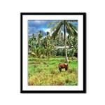 Horse in a Tropical Pasture Framed Panel Print