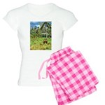 Horse in a Tropical Pasture Women's Light Pajamas