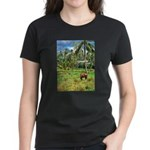 Horse in a Tropical Pasture Women's Dark T-Shirt