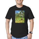 Horse in a Tropical Pasture Men's Fitted T-Shirt (