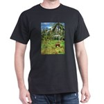 Horse in a Tropical Pasture Dark T-Shirt