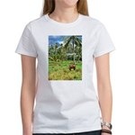 Horse in a Tropical Pasture Women's T-Shirt