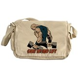 Shut Up Weightlifter Messenger Bag