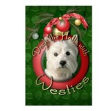 Christmas - Deck the Halls - Westies Postcards (Pa