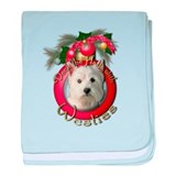 Christmas - Deck the Halls - Westies baby blanket