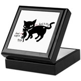 Bad Kitten Keepsake Box