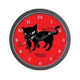 Bad Kitten Wall Clock