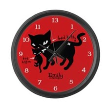 Bad Kitten Large Wall Clock