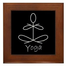Yoga Glee in White Framed Tile