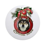 Christmas - Deck the Halls - Shiba Inus Ornament (