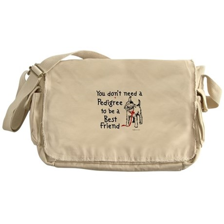 No Pedigree Needed Messenger Bag