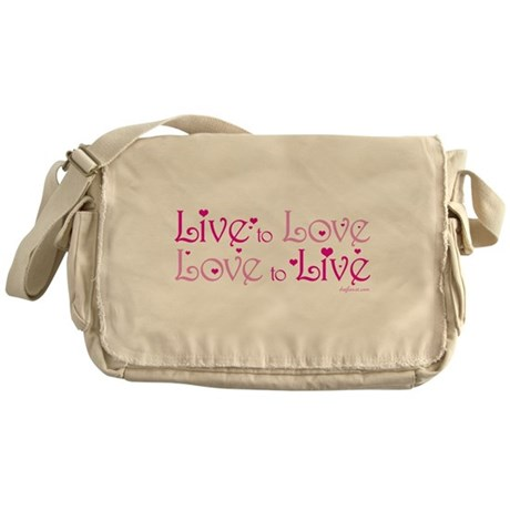 Live to Love Messenger Bag