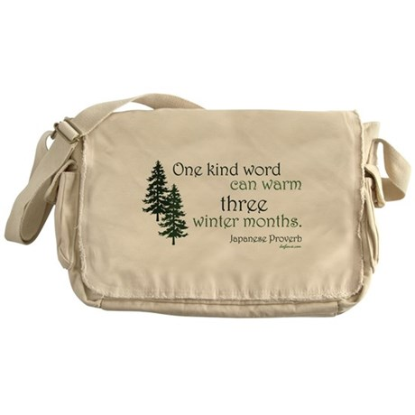 Kind Word Messenger Bag