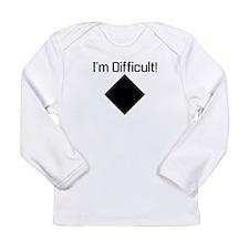 Cute Funny ski Long Sleeve Infant T-Shirt