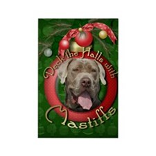 Christmas - Deck the Halls - Mastiffs Rectangle Ma