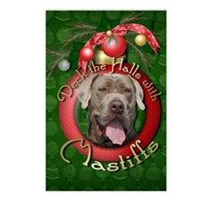 Christmas - Deck the Halls - Mastiffs Postcards (P