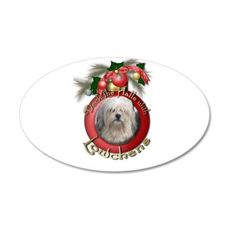 Christmas - Deck the Halls - Lowchens 22x14 Oval W