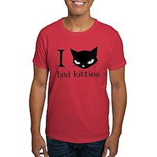 I Heart Bad Kitties T-Shirt