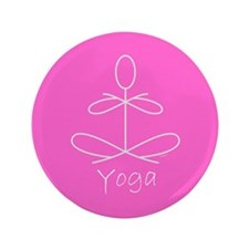 "Yoga in Pink 3.5"" Button"