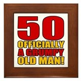 Grumpy 50th Birthday Framed Tile