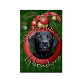 Christmas - Deck the Halls - Labradors Rectangle M