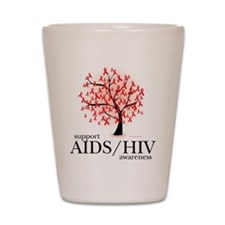 AIDS/HIV Tree Shot Glass