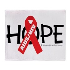AIDS/HIV Hope Throw Blanket