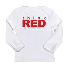 AIDS Think Red Long Sleeve Infant T-Shirt