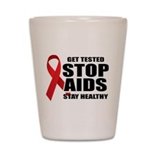 Stop Aids 2 Shot Glass