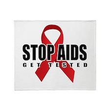 Stop AIDS Throw Blanket