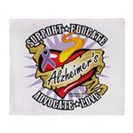 Alzheimer's Classic Tattoo He Throw Blanket