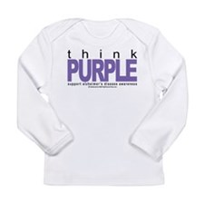 Think Purple Long Sleeve Infant T-Shirt