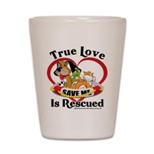 Rescued-Love Shot Glass