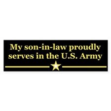 Son-in-law serves Bumper Bumper Sticker