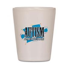 Autism Blue Puzzle Shot Glass
