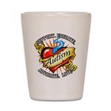 Autism Classic Tattoo Shot Glass