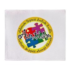Autism Puzzle Throw Blanket