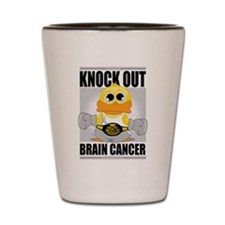 Knock Out Brain Cancer Shot Glass