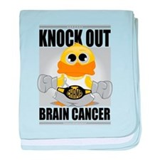 Knock Out Brain Cancer baby blanket