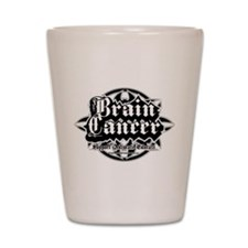 Brain Cancer Tribal Shot Glass