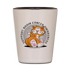 Brain Cancer Cat Shot Glass