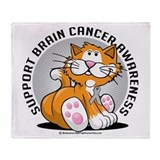 Brain Cancer Cat Throw Blanket