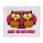 Breast Cancer Owl Throw Blanket