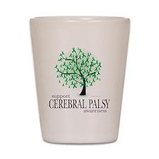 Cerbral Palsy Tree Shot Glass