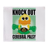 Knock Out Cerebral Palsy Throw Blanket