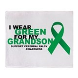 CP: Green For Grandson Throw Blanket