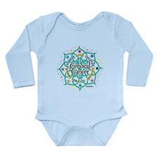 Cervical Cancer Lotus Long Sleeve Infant Bodysuit