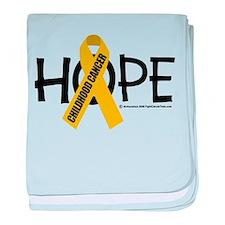 Childhood Cancer Hope baby blanket
