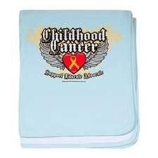 Childhood Cancer Wings7 baby blanket