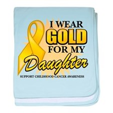 Gold For My Daughter 2 baby blanket